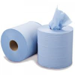Centre Feed Paper Tissue Rolls Blue 2ply 150m