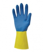 Doubled Dipped Bio Colour Latex Rubber Gloves