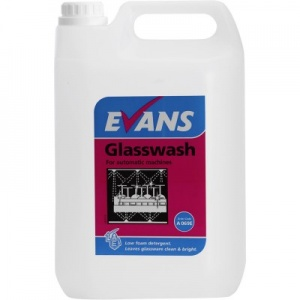 Evans Glass Wash Detergent Automatic Machines 5 Litre