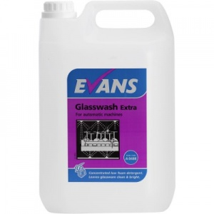 Evans Glass Wash Extra Detergent Automatic Machines 5 Litre