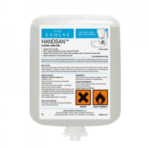 Evans Hansan Alcohol Gel Sanitiser Cartridge 1 Litre