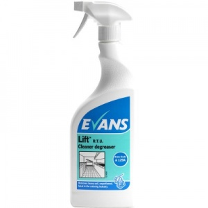 Evans Lift Heavy Duty Unperfumed Cleaner Degreaser RTU