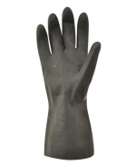 Latex Gloves Heavy Duty Natural Rubber Black
