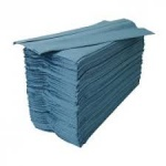 Paper Hand Towel C Fold Blue 1ply