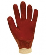 Red PVC Fully Coated Gauntlet Glove 18''