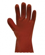Red PVC Glove Short Cuffed