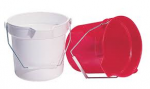 Round Pouring Bucket 10 Litre Capacity Red & White