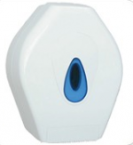 Evolution Mini Jumbo Toilet Roll Dispenser White
