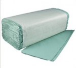 Paper Hand Towel Z Fold Interfold Green 1ply