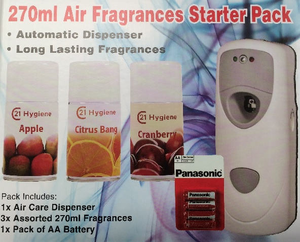 Air Fragrances Automatic Odour Control System 270 ml Starter Pack