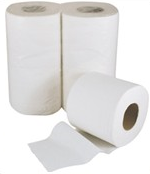LOW PRICE Economy Toilet Rolls White 200 Sheets