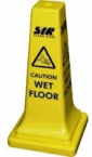Safety Floor Cone Yellow 'Caution Wet Floor' 53cm