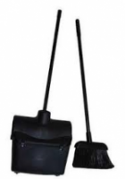 Lobby Plastic Long Handled Dustpan & Brush Complete Set