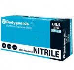 Nitrile Blue Disposable Powdered Gloves