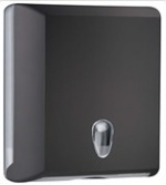 Soft Touch Interfold & C Fold Paper Hand Towel Dispenser Black