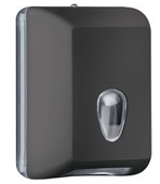 Soft Touch Bulk Pack Folded Toilet Tissue Dispenser Black