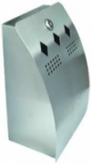 Wall Mounted Stub-it Contemporary Curved Cigarette Bin