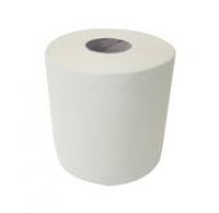 Centre Feed Paper Tissue Rolls White 1ply 300m