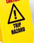 Safety Caution Non Tip Folding Yellow Sign 'Trip Hazard'